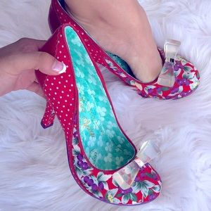Irregular Choice Lucite Lovely Red Pin-Up Heel